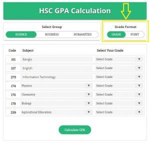 Select HSC Grade